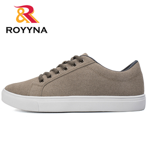 Image 5 - ROYYNA New Popular Style Men Casual Shoes Lace Up Men Flats Shoes Microfiber Comfortable Hombres Zapatos Slip On Free Shipping