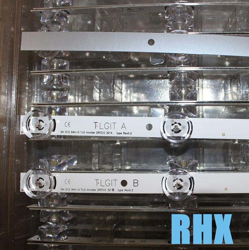 Novo 3 pces * 6led 590mm barra de tira de retroiluminação led compatível para lg 32lb561v uot a b 32 polegada drt 3.0 32 a b 6916l-2223a 6916l-2224a