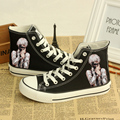 Kaneki Ken Impreso Botines Con Cordones Zapatos Unisex Hombres Adolescentes Casual Zapatos de Lona Anime de Tokio Ghoul Envío Gratis