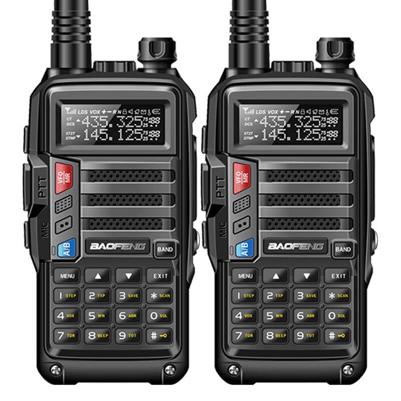 2Pcs BaoFeng UV S9 8W Powerful Walkie Talkie VHF UHF136 174Mhz 400 520Mhz Dual Band 10km