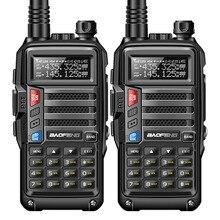 2 sztuk BaoFeng UV S9 8 W potężny Walkie Talkie VHF/UHF136 174Mhz i 400 520 Mhz podwójny pasek 10 km dalekiego zasięgu przenośny Two Way Radio