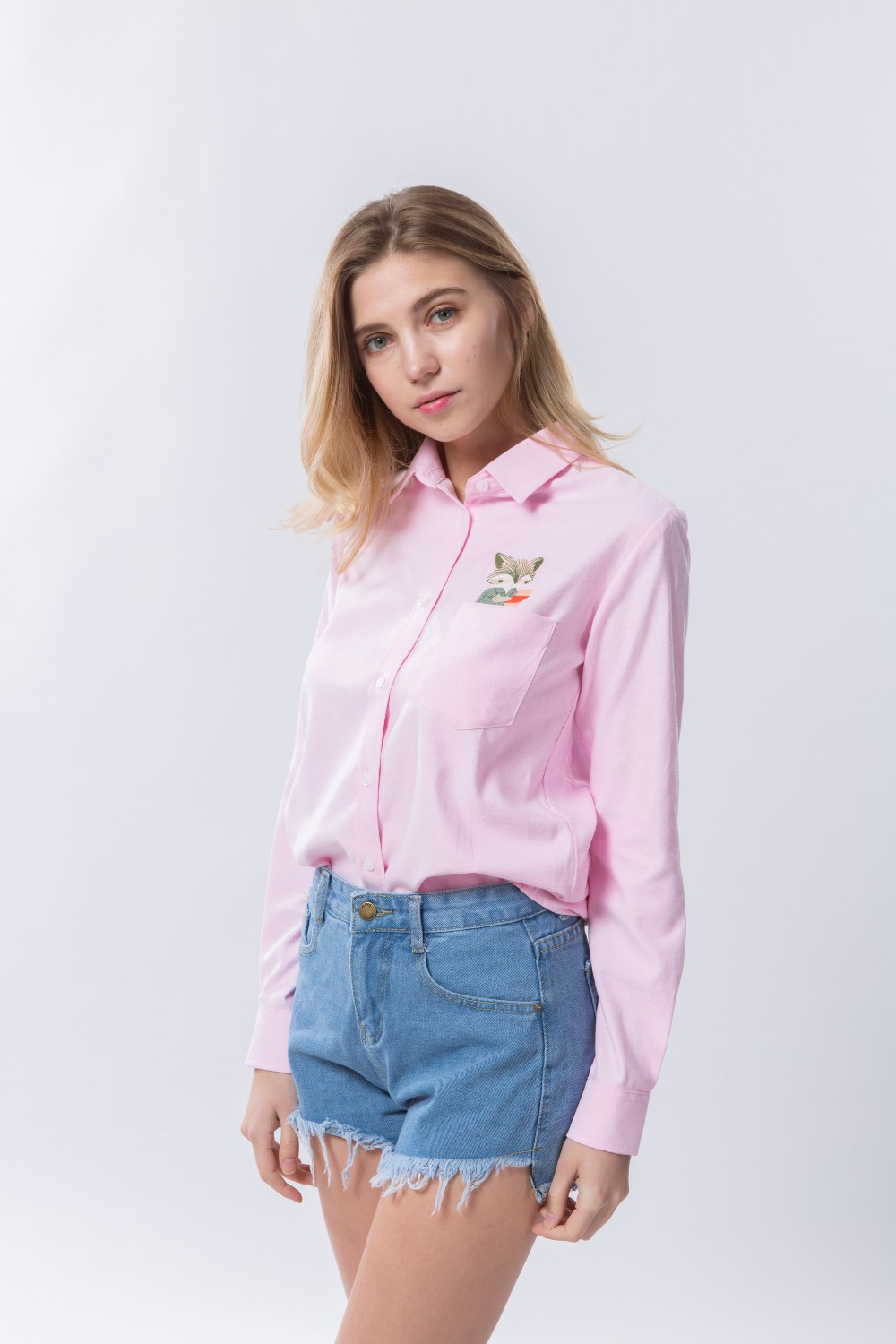 HTB1SpjOOVXXXXcsXFXXq6xXFXXXS - Women Spring Shirt Turn-Down Collar Ladies Blouses Long-Sleeve