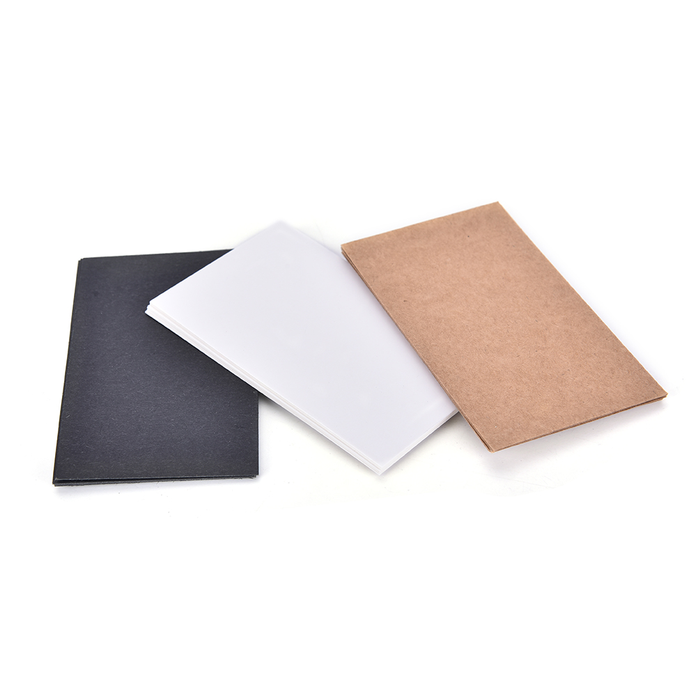 100pcs/Lot Hang Tag Blank Tags Packaging Label White /Black /Kraft Paper message card word business card paper Drop Shipping