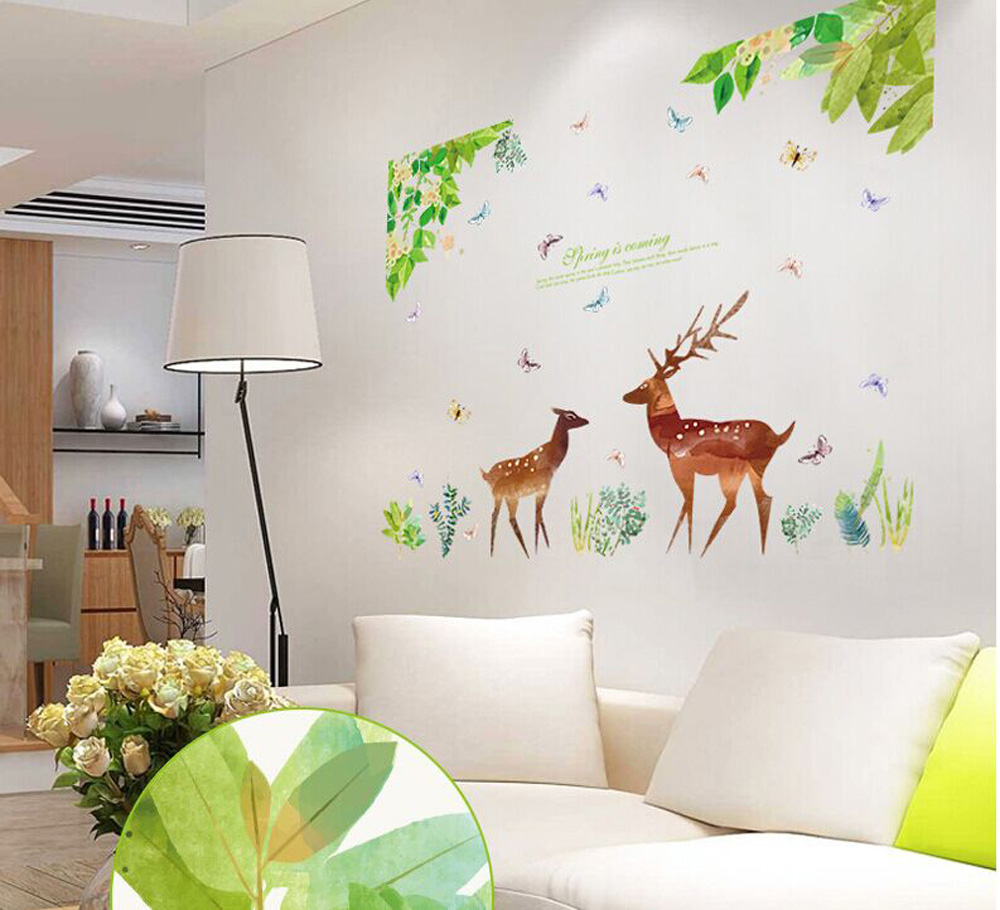 Charming The Wizard Of Oz Stickers Sika Deer Wallpaper Household Adornment To Wall  Stickers Decoration Furnishing Art