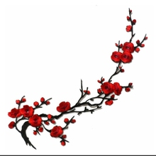 Butterfly Cherry Blossom Sakura Flower Iron on Fabric Embroidered Appliques Patch Clothes diy Accessories