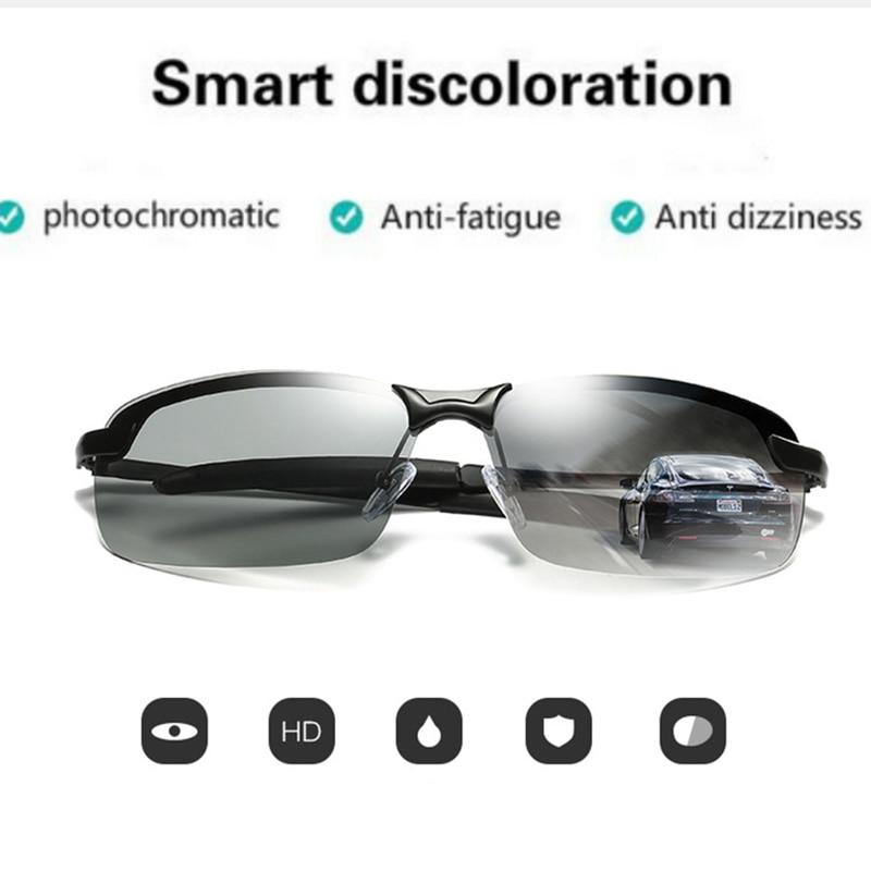 df2e7fa5c43 Mens Driving Sunglasses Transition Lens Sunglasses HD Polarized Sunglasses  Photochromic Sunglasses Pilot UV400 Anti-Glare