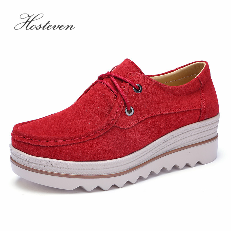 Hosteven Women Shoes Flats Loafers Sneakers Moccasins Platform Genuine Leather Spring Autumn Ladies Female Swing ShoeHosteven Women Shoes Flats Loafers Sneakers Moccasins Platform Genuine Leather Spring Autumn Ladies Female Swing Shoe
