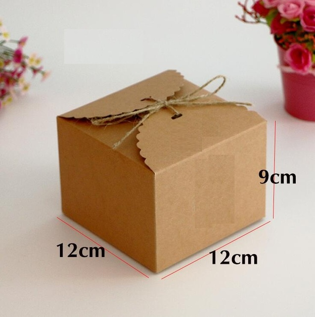 05 15 Large Kraft Paper Box Diy Wedding Gift Favor Bo Party Candy
