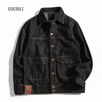 2017 Autumn Winter Denim Jacket Mens Bomber Jackets Fashion Outwear Male Cowboy Cotton Solid Jeans Jacket