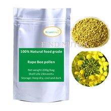 Бесплатная доставка 100% Натуральный пищевой чистый Изнасилование Пчелиная пыльца 200 г/пакет