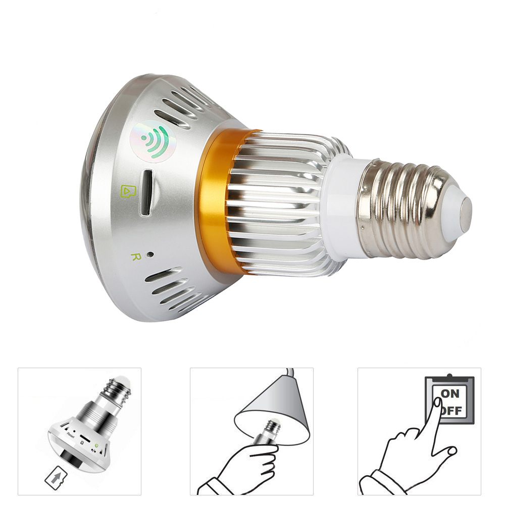 BC-880C   New Style HD 960P Bulb Light WiFi Camera wireless Bulb IP Network Camera support baby monitor security camera