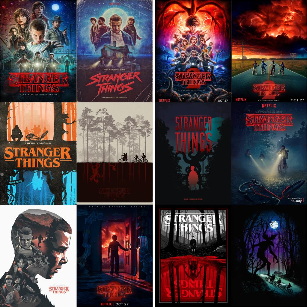 Stranger Things Season 2 Movie Posters Wall Stickers White Coated Paper Prints Home Decoration Vivid Color Free Shipping