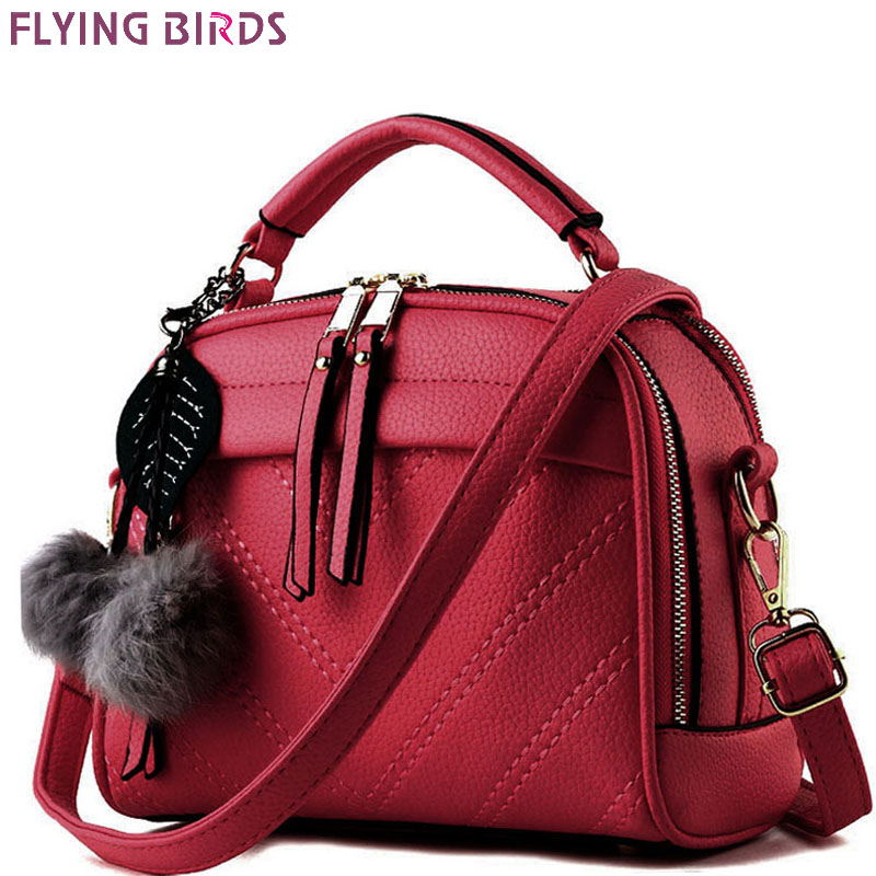 FLYING BIRDS! 2017 women leather handbag of brands women messenger bags cross body ladies shoulder shoulder bag bolsos LM3918fb women floral leather shoulder bag new 2017 girls clutch shoulder bags women satchel handbag women bolsa messenger bag
