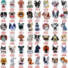 48 Pcs 2019 New Acrylic Cartoon Dog team Badge Holder Retractable Nurse Gift Beautiful Reel Security