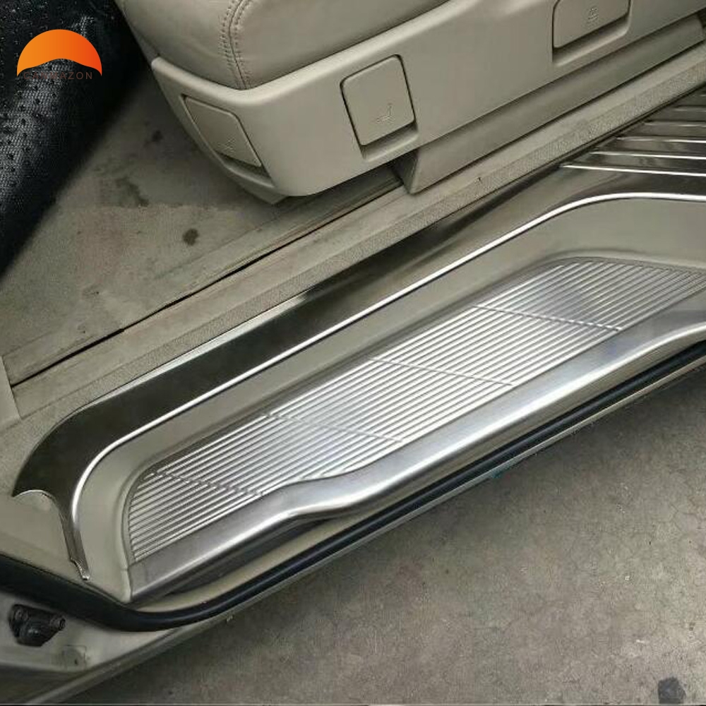 For Toyota Estima Previa Tarago 2016 Stainless Steel Scuff Plate Door Sill Guard Thresholds Cover Trim Protector Car Accessories versace бордовый галстук в клетку внизу с логотипом versace 821752 page 5 page 1