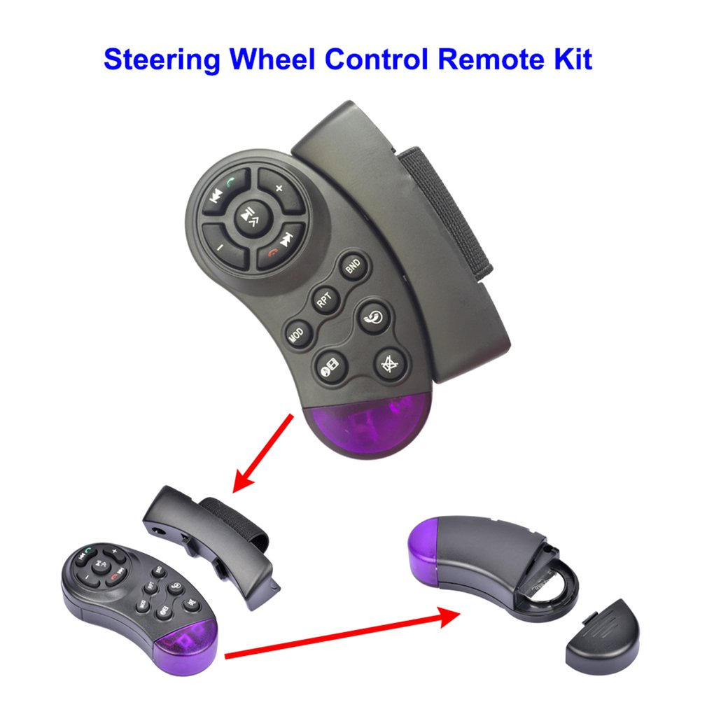 Intelligent Smart Ergonomic Design Remote Control Steering Wheel Remote-Control DVD Vehical Car CD Black