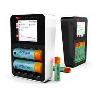 Image 3 - ISDT C4 8A Touch Screen Intelligente Caricabatterie Intelligente Della Batteria W/ USB di Uscita Per 18650 26650 AA AAA Batteria RC modelli