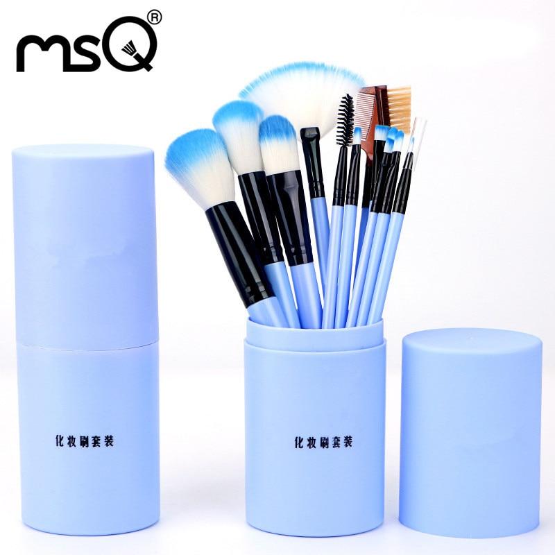 Professional Makeup Brush Kits Wood Synthetic Hair Powder Foundation Makeup Eye Shadow Brush Tools 12 Pcs/Set Fashion Maquiagem