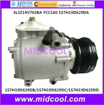 Высококачественный автоматический компрессор переменного тока SC90V (слева) для 3L2Z19V703BA YCC160 1S7H19D629DA/1S7H19D629DB/1S7H19D629DC/1S7H19D629DD