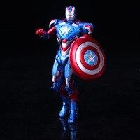 איש ברזל נוקמי גיבורי גיל של Ultron Ver הכחול. בובת ילדי צעצועי אנימה PVC פעולה איור אסיפה דגם 18 ס