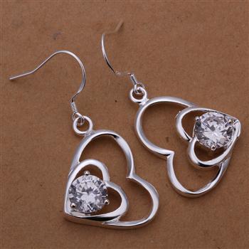 NewFree Envio Gratuito de brincos de prata 925 moda jóias brinco 925 brincos  de prata atacado E255 6cb699c7b7