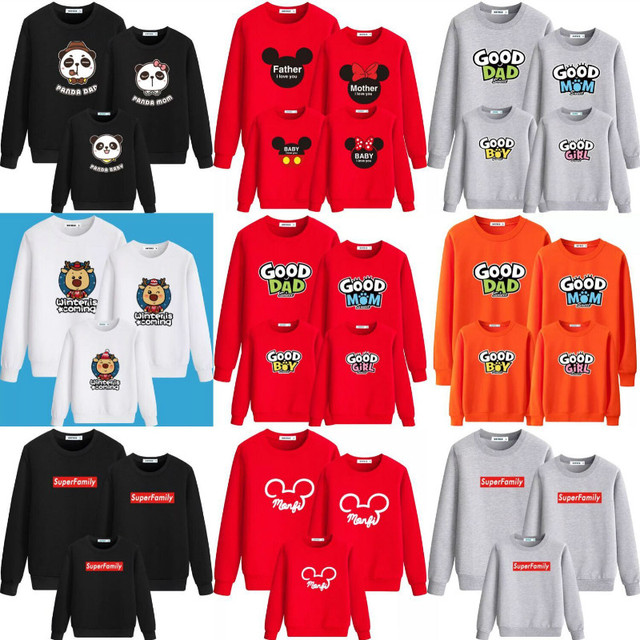 f57694fb3e78 Christmas Sweater Mommy and Me Family Matching Clothes Tshirt Sets ...