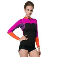 2mm thick women's Wetsuit Snorkeling Diving suit jacket coat Surf winter cold proof Swimwear Y064