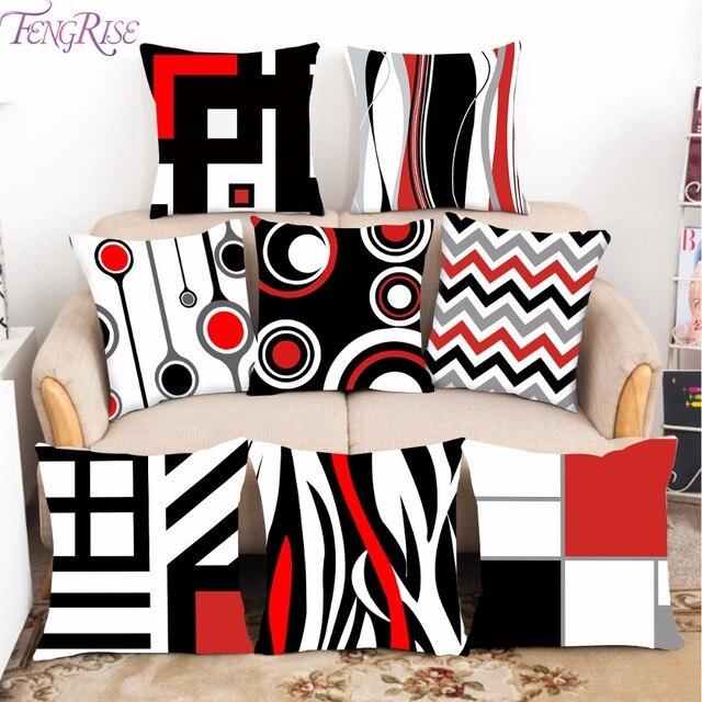 FengRise de tejido de poliéster cojín almohada decorativa cojín para sofá casa impreso almohada asiento silla cojín