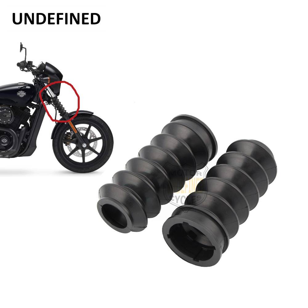 For <font><b>Harley</b></font> XG 500 <font><b>XG750</b></font> 2014- 2017 Motorcycle Parts Motocross Rubber Front Fork Cover Shock Protector Guard Fork Bobber Boots image