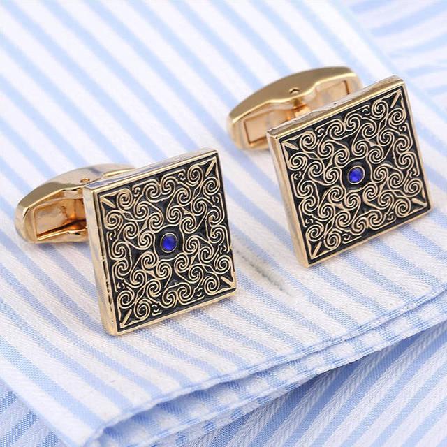 Vagula Cufflinks Luxury Rose Flower Cuff Links Ship Wedding Jewelry French Shirt Gemelos 306