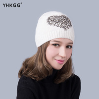 2016 Latest Fashion Five Pointed Star With A Diamond Winter Wool Knitted Beanies Warm Hat Knitted