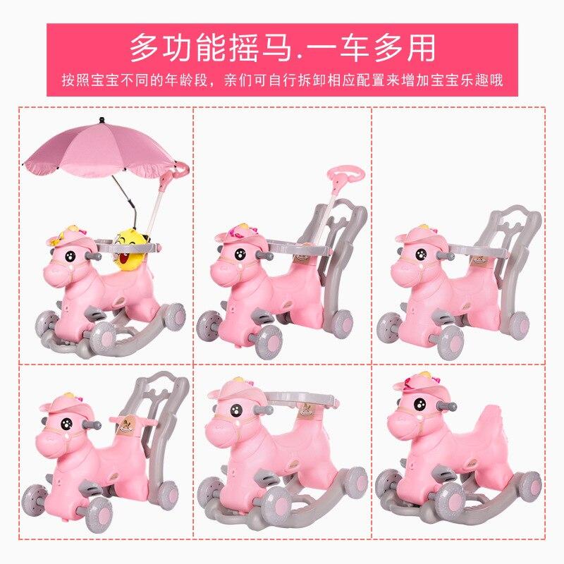 Chaise à bascule pour enfants avec musique bébé marcheur bébé videur multifonction grand bébé jouet voiture coulissante bébé artefact - 6