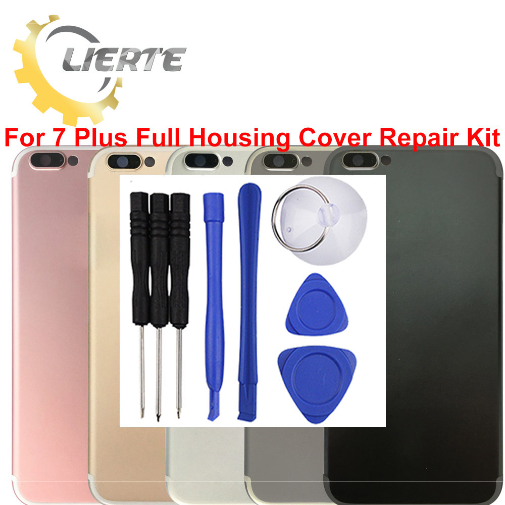 Torx Screwdriver Repair For IPhone 7 7G Plus Frame Bezel Chassis Back Full Housing Battery Door Rear Cover Body With Flex Cable ia73 original chassis middle housing frame for iphone 4 silver