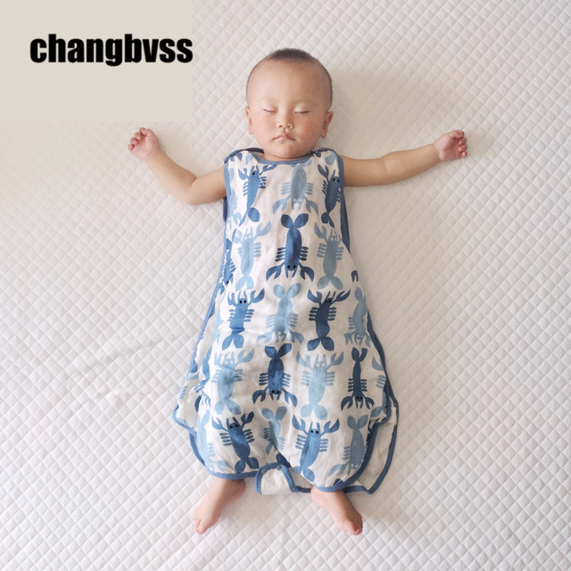 Sommer Baumwolle Gaze Nerborn Sleeveless Schlafsack, Schlafsack Sommer, Baby  Schlafsack, Schlaf Sack,
