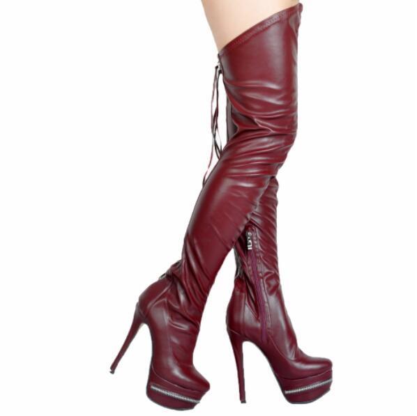 Discothèque Dos as Nouvelle Sur Bottes Plate Pic Sexy Chaussures Arrivée forme Femmes Longues Glissière Cuir Pic genou Femelle Bout Au Européenne Rond As En OqwrBOTx