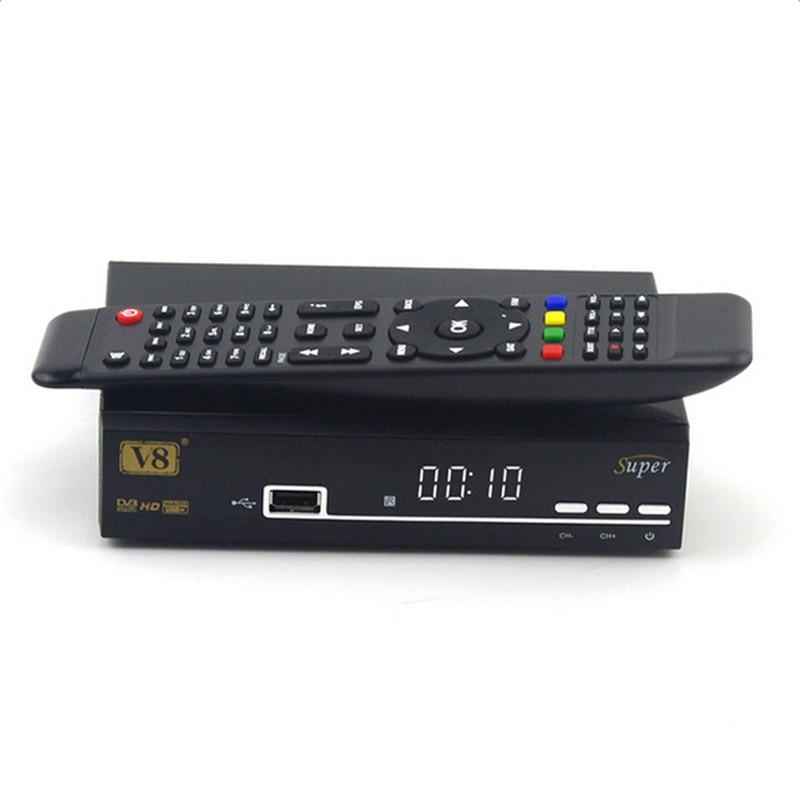 Freesat V8 Super Server DVB-S2 Satellite Receiver Full 1080P Smart Set Top Box Streaming Media Player With USB Wifi i box rs232 dvb s satellite smart sharing nagra 3 dongle black