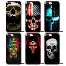 For Huawei G7 G8 P7 P8 P9 Lite Honor 4C 5X 5C 6X Mate 7 8 9 Y3 Y5 Y6 II 2 Pro 2017 Awesome skull 3d Transparent Clear Case(China)
