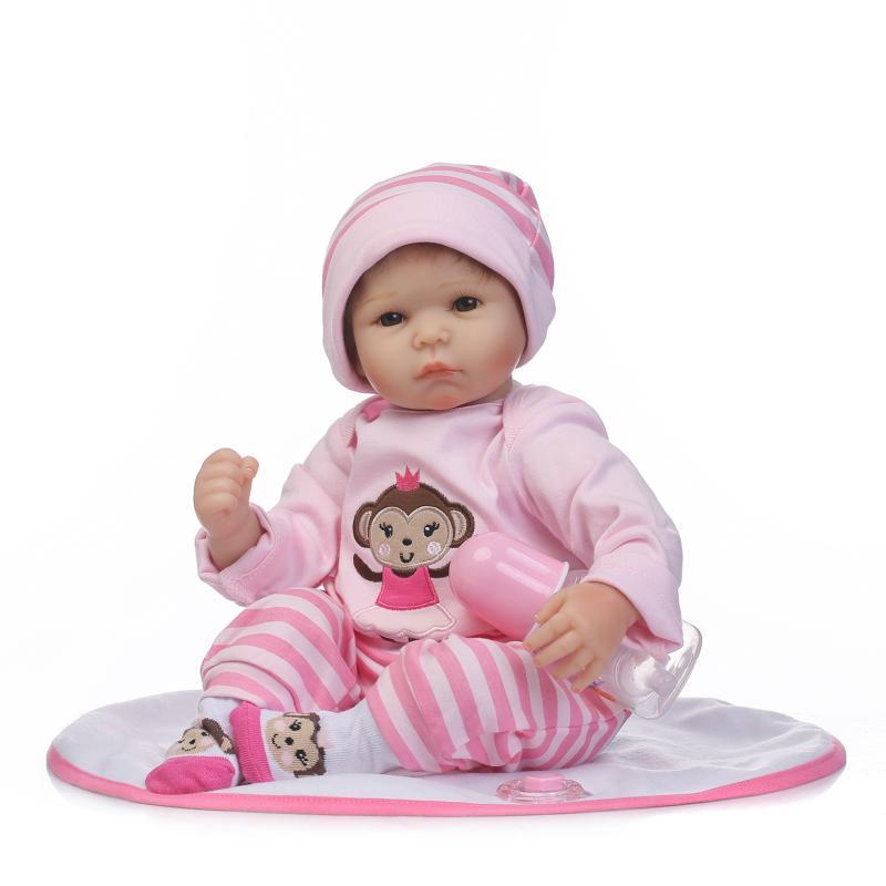 running shoes great quality footwear US $79.99 |52 cm scimmia rosa vestiti reborn baby doll vinile morbido  realistico del bambino play house toys corpo cotone accompagnare sonno ...