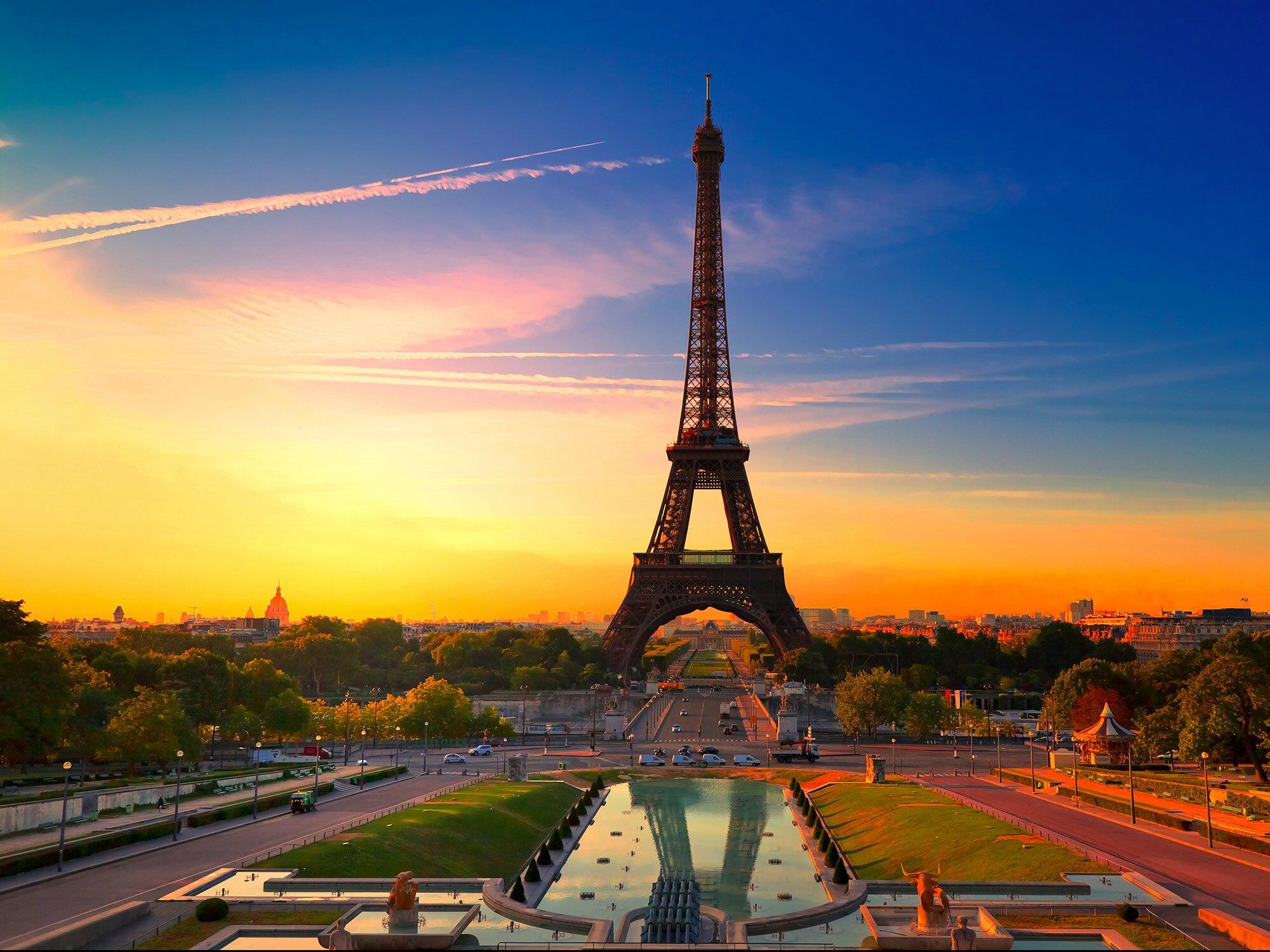 Eiffel Tower Landscape Diamond Painting Embroidery Beading Cross ...