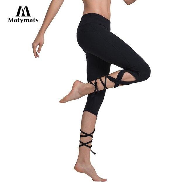 8e612ed3e36f29 Matymats Yoga Leggings 3/4 Length High Quality Women Sport pants Gym  Workout Leggings Comfortable