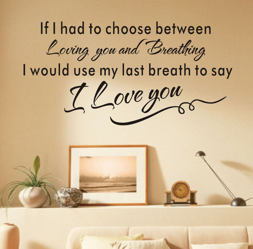love wall art letters wallpaper bedroom decor pegatinas