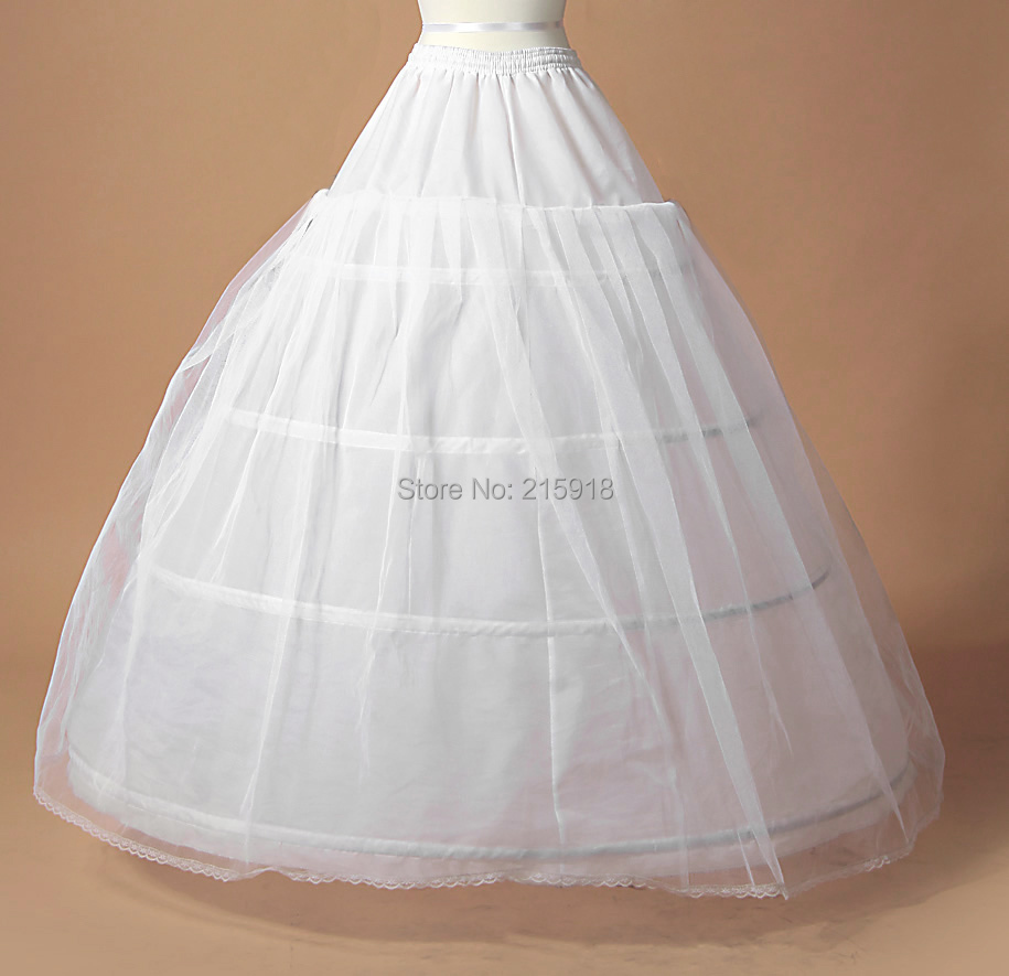2016 high quality large a line 4 hoops ball gown petticoat Wedding dress petticoat a line