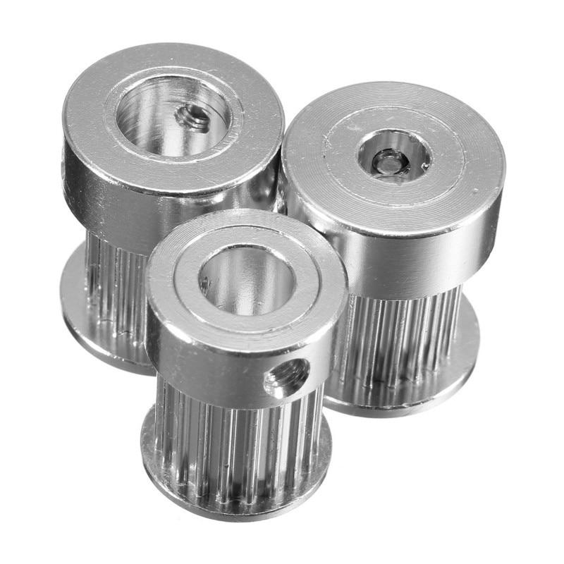 1pcs 3d printer accessories gt2 timing pulley 20teeth gear bore 6 35