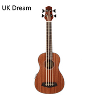 30 inch Wooden Electrical Bass Guitar 4 strings Ukulele Musical Instruments Closed Knob Ukulele Guitarra UB 113