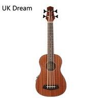 Wooden Electrica Guitar Musical Instruments 30 inch Bass Guitars China Sapele Vintage Retro Closed Knob Ukulele Guitarra UB 113