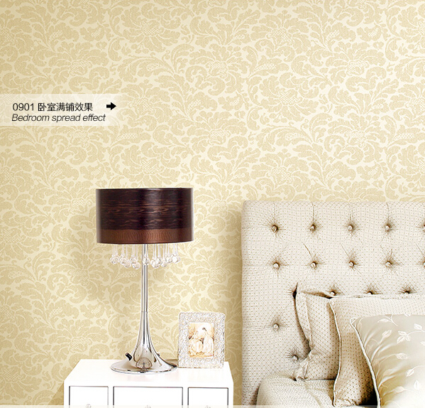 Simple but elegant generousEuropean rural contracted non-woven wallpaper plain sweet bedroom living room TV setting wall paper contracted ou lang chinese trumpet creeper wallpaper in the living room tv setting wall stickers paper non woven 3 d tv wall