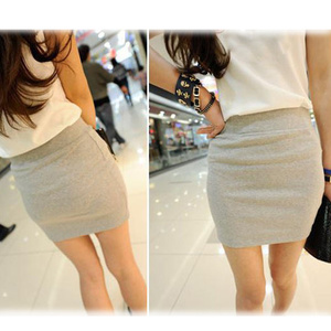 Image 2 - Fashion Women Ladies Sexy Summer Package Hip Pencil Skirt Seamless Elastic Pleated High Waist Slim Mini Skirts For Office Party