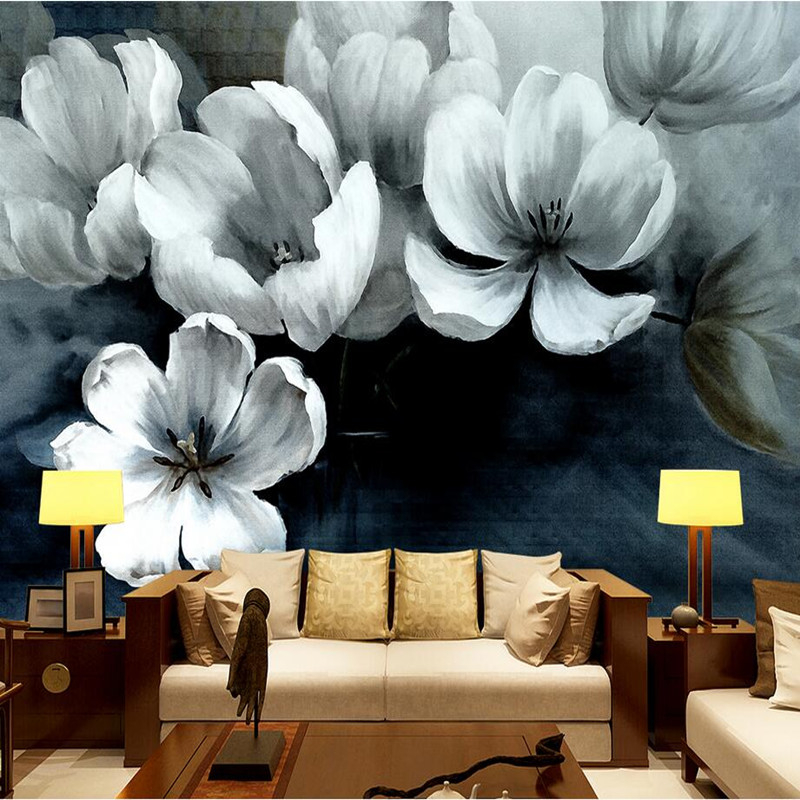 Photo Wallpaper 3D Wall Murals Nature Flowers Wallcoverings New Chinese Style Hand-painted Wallpaper Decorative 3D Wall Stickers 1841art large murals3d can be custom made furniture decorative wallpaper house ornamentation decor wall stickers chinese style