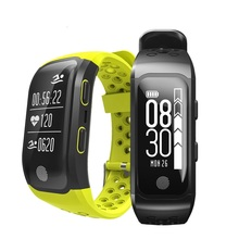 S908 GPS Smartband IP68 Waterproof Coronary heart Charge Sleep Monitor Sedentary Reminder Pedometer Sport Sensible Wristband for Androis IOS