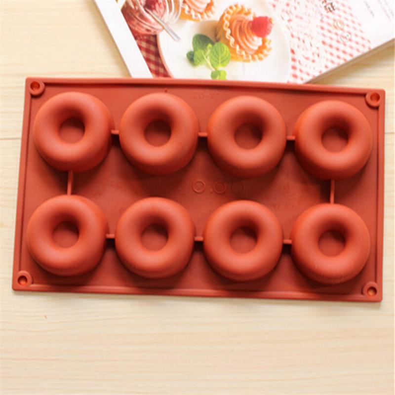 Beignet forme ronde Muffin bonbon gelée Fondant gâteau chocolat moule Silicone outil cuisson casserole bricolage D627